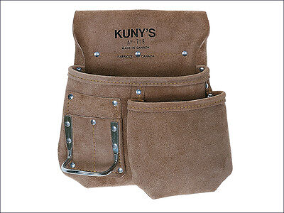 Kuny's KUNAP719 AP-719 Journeyman Half Apron tool pouch with hammer loop leather