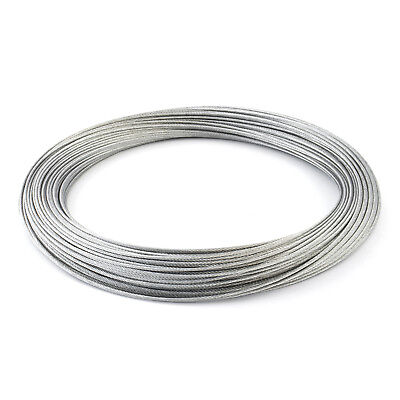 GALVANISED WIRE ROPE stranded weaved cord cable steel metal marine zinced new
