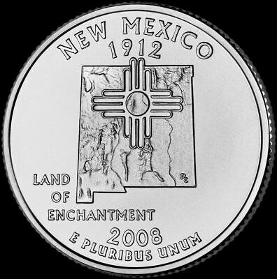 """2008 P New Mexico State Quarter New U.S. Mint """"Brilliant Uncirculated"""" Coin"""