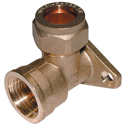 "15MM Compression Fitting - X 1/2"" WALLPLATE Elbow"