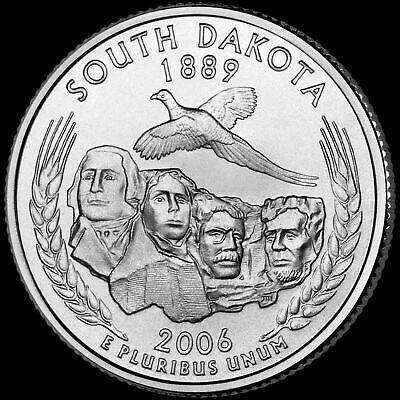 "2006 D South Dakota State Quarter New U.S. Mint ""Brilliant Uncirculated"""