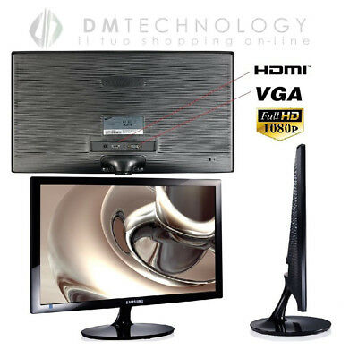 tv 24 pollici samsung full hd  MONITOR LED SAMSUNG 24 Pollici Hdmi Full Hd 1920X1080 Per Pc 16:9 Sm ...