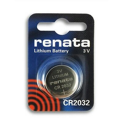 Renata 3V Lithium Coin Cell Batteries Cr2032 Genuine Swiss Product