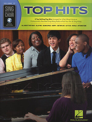 Sing with the Choir Top Hits Vocal Sheet Music Book with Audio Access