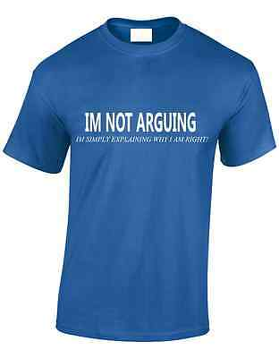 Im Not Arguing Mens T Shirt Funny Big Bang New Design Science Theory Sheldon