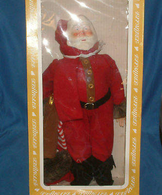 "Effanbee Doll, Vintage Old Fashioned Santa Claus 16""-lot1503"