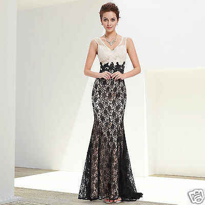 Women's V-neck Fishtail Long Prom Bridesmaid Party Wedding Evening Gown Dress