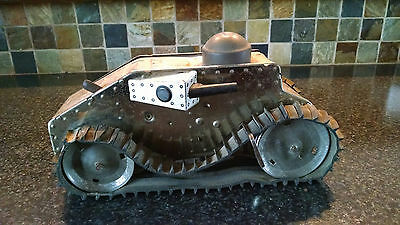 Very hard to find World War I Tank tin toy with tracks WORKS