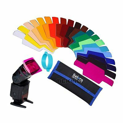 20pcs Flash Speedlite Color Gels Filter for Canon Nikon Sony Godox Yongnuo