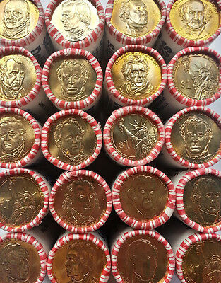 """(Lot of 10) Different Presidential Dollar """"Bright & Shiny"""" Coins US Mint"""