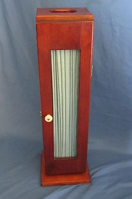 Vintage Free Standing Toilet Paper Holder - Storage Stand - Solid Wood w/Latch