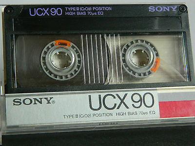 SONY UCX 90 Type II 1985  Audio-Cassetten  Tape MC Kassette