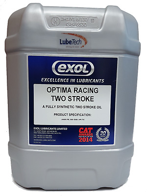 EXOL FULLY SYNTHETIC RACING TWO 2 STROKE OIL 20 LITRE JASO FD ONLY £3.30 per LTR