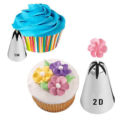 New DIY Unique Russian Icing Piping Nozzles Pastry Biscuits Cookies Bake Tool