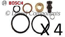 4 x *Genuine* Bosch PDE Injector Seal Repair Kit (1417010997) for VW Volkswagen