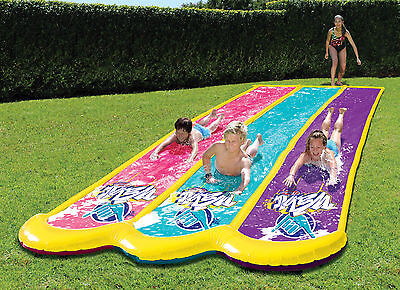 Wahu Triple Water Slide 6.5m Backyard Summer Party Toy