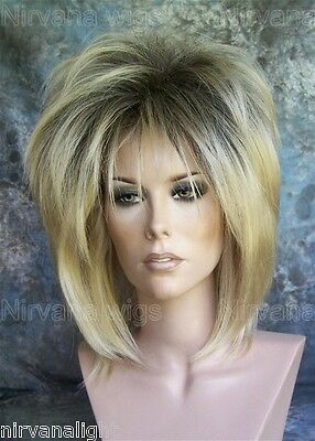 Dark Root with Golden Blonde Layered Womans Nirvana Tina Turner Drag? Wig
