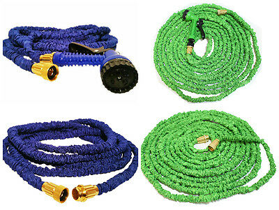 Htuk Magic Hose Expandable Hosepipe With Heavy Duty Brass Fittings & Spray Gun