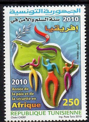 Tunisia MNH 2010 Year of Peace ad Security in Africa