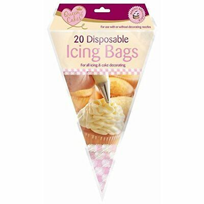 20 Disposable Icing Piping Pastry Bags Cake Tools Sugarcraft  Cupcake Decorating