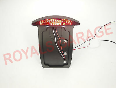 royal classic avenger STREET harley side mount CNC black number plate tail light