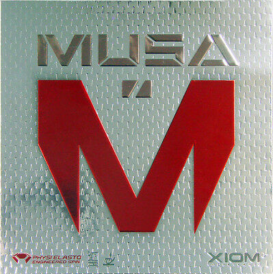 Xiom Musa Table Tennis Rubber Official Uk