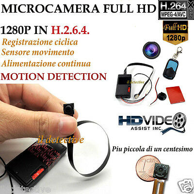 Spy Camera Spia NASCOSTA FULL HD MOTION DETECTION TELECAMERA MICRO MICROCAMERA
