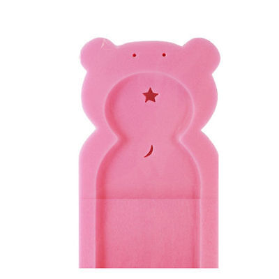 NEW Baby Bath Sponge Support Teddy Pink Safety Aid Bathing Comfort Bathtime