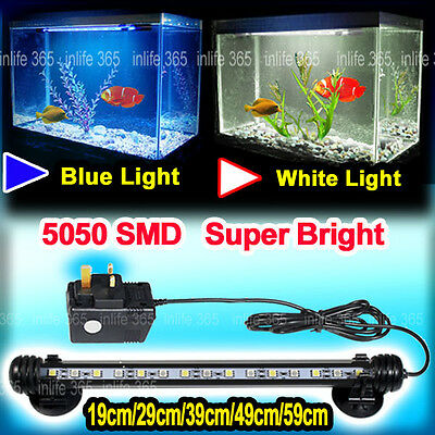 Aquarium Fish Tank 5050SMD LED Light Bar Lighting Lamp White Blue / Color Change