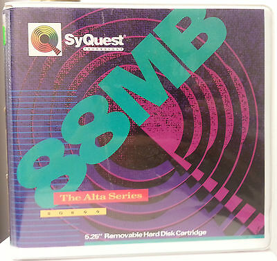 """Pre-Formatted Maxell 88mb 5.25"""" Removeable Hard Disk Cartridge - SyQuest - NEW"""