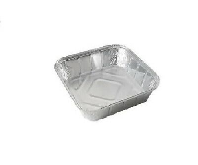 "25 x LARGE ALUMINIUM FOIL FOOD CONTAINERS TRAYS 9"" x 9"" x 2"" with 25 Lids"