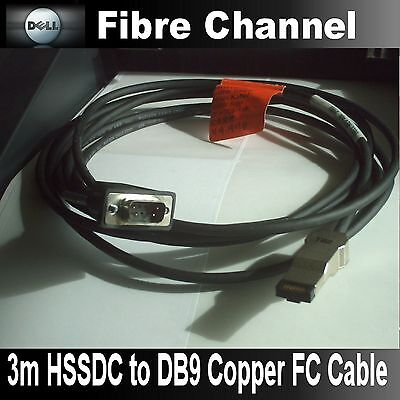 Dell 8194U External HSSDC to DB9 3m Fibre Channel Cable for 660F FC Array