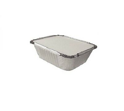 500 x SMALL ALUMINIUM FOIL TAKEAWAY FOOD CONTAINERS + 500 Lids - No1