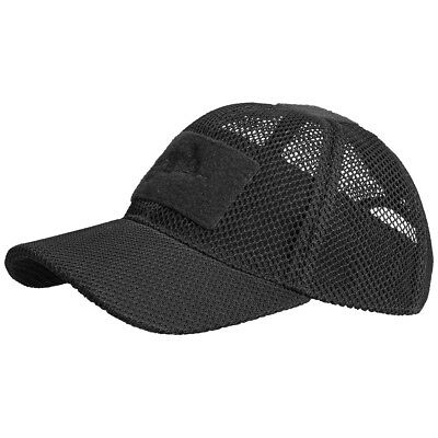 Helikon Tactical Mesh Baseball Cap Breathable Hat Airsoft Hunting Security Black