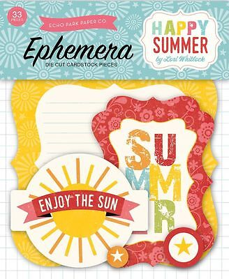 "Echo Park ""happy Summer""  Ephemera Die Cuts (33 Pieces)  Scrapjack's Place"