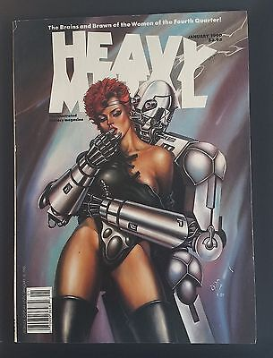 Heavy Metal Illustrated Fantasy Magazine Jan 1990 - Women of the Fourth Quarter