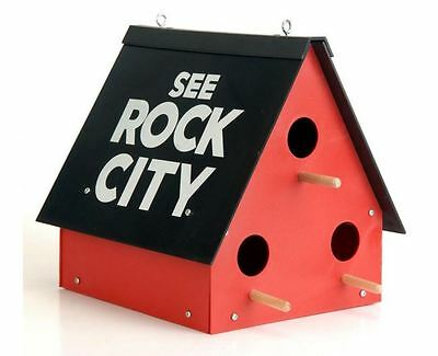 See Rock City Bird House Garden Birdhouse Bluebird Chickadee Purple Martin NEW
