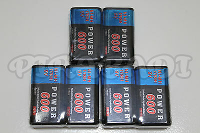 6 PILES ACCUS RECHARGEABLE 9V Ni-Mh 600mAh 6LR61 6F22 BATTERIES FRANCE POWER