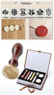 Hot Harry Potter Hogwarts School Badge Vintage Wax Seal Stamp Gifts With Box