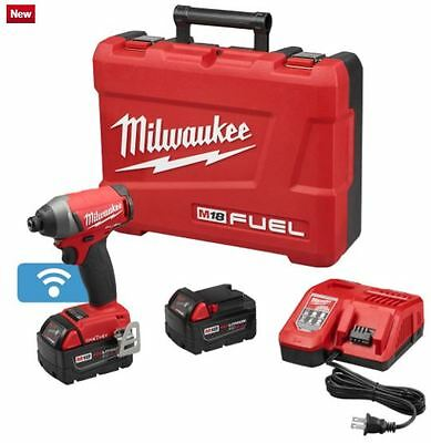 "MILWAUKEE 2757-22 M18 FUEL1/4""Hex Impact Driver w/ 1-KEY Kit - NEW& FREE T-SHIRT"