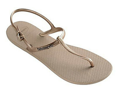 17bb8124d HAVAIANAS WOMEN`S FLIP Flops Sexy Freedom Sandal Rose Gold Any Size ...