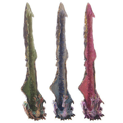 Geode Crystal Dragon Upright Incense Burner