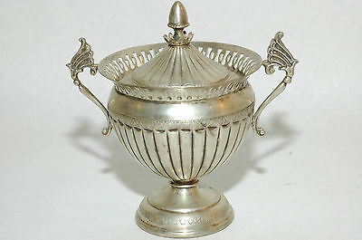 Elegant Sterling SIlver lidded Two Handled Sugar bowl