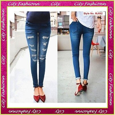 Pregnancy Trousers Maternity Skinny Jeans Wear Clothes Size 6 8 10 12 14 -B001