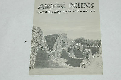 U.S. Government Vacation Guide Aztec Ruins National Monument NM 1961