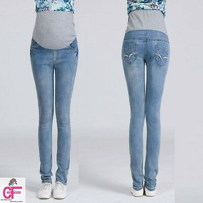 Over Bump Skinny Pregnancy Maternity Jeans Trousers Size 8 10 12 14 16 18  -B007