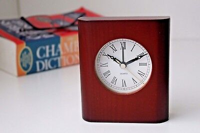 Classical Wooden Desk Table Clock Home Decoration Business Gift Idea Alarm Clock