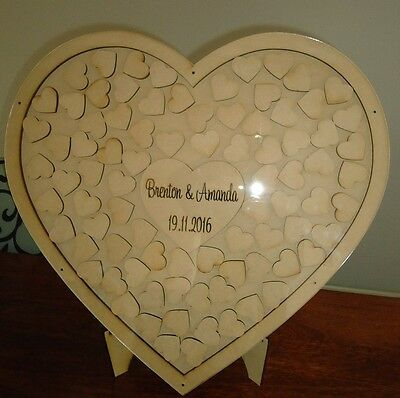 Large Guest Book Alternative with cover and stand 60,80,100 hearts
