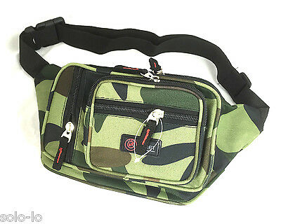Military Green Waist Pouch Bum Bag Polyester Camouflage Travel Hiking bag NEW
