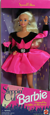 1995 Barbie Steppin Out Barbie Dressed for the Night Special Edition